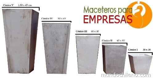 Maceteros lisos c nicos rectangulares cuadrados medidas - Maceteros rectangulares grandes ...