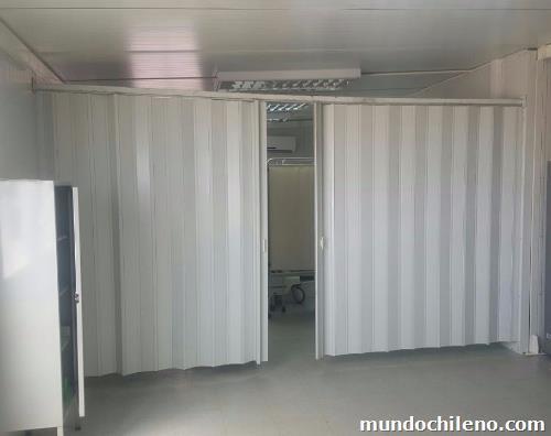 Cortinas hospitalarias pvc antibacterianas para m dulos Cortinas plegables de pvc